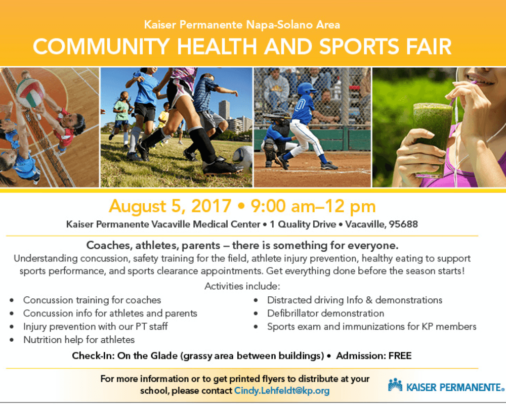 Kaiser Sports and Health Fair flyer