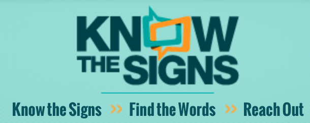 Know the Signs Suicide prevention
