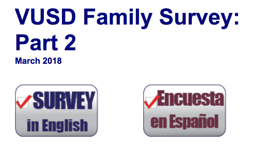 links to english and spanish surveys
