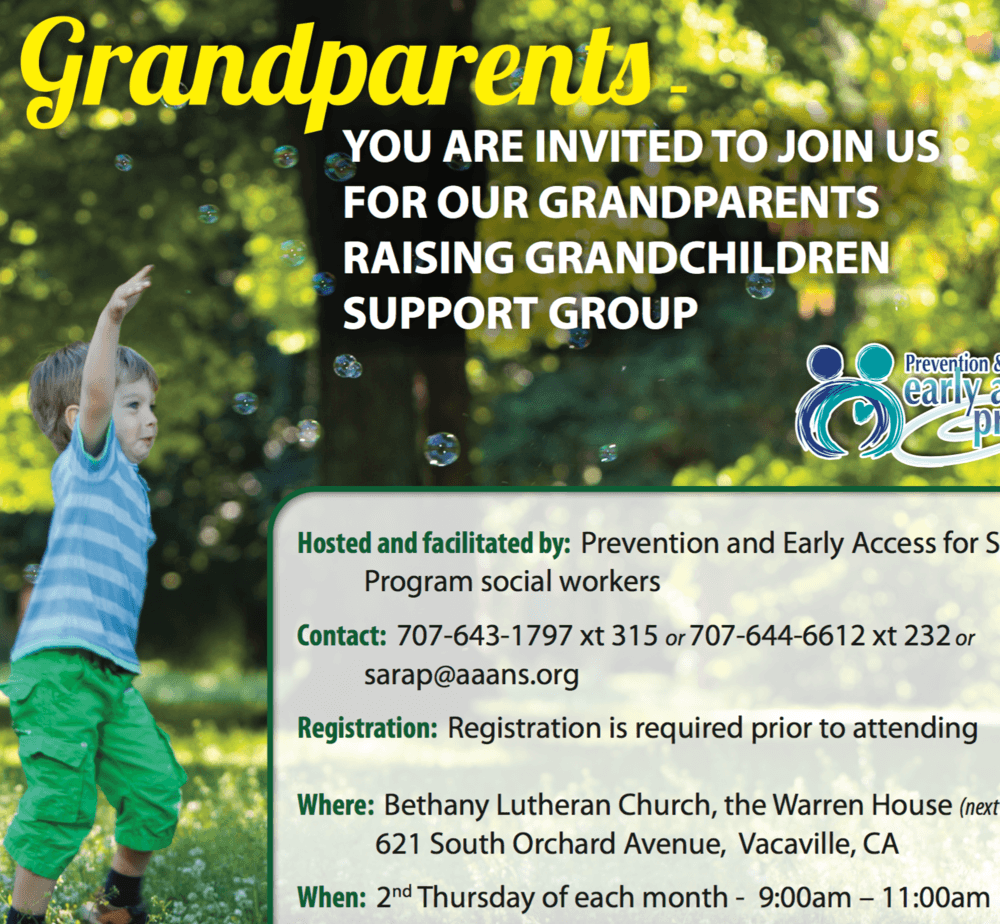 Grandparent support group flyer