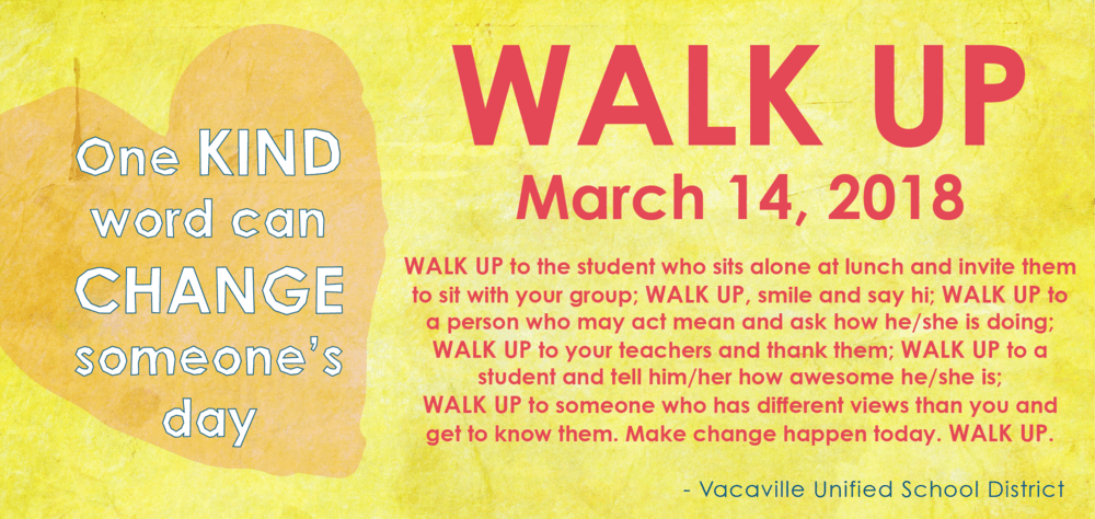 Walk UP and extend kindness March 14th