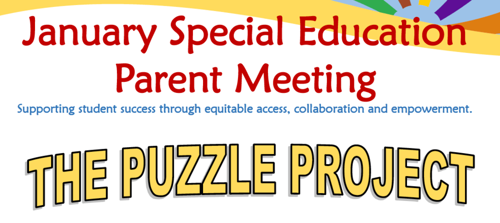 Parent Meeting- the puzzle project