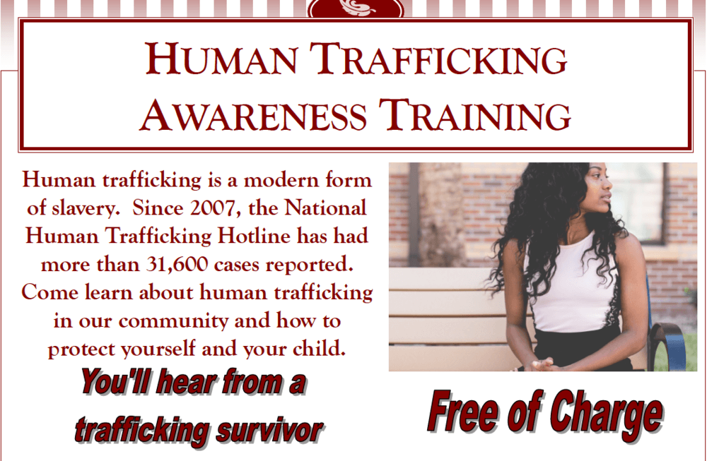 Human Trafficking flyer