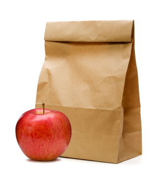 bag and apple