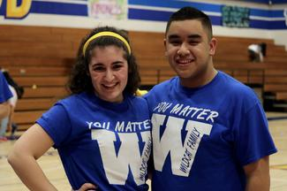 WCW Students in You Matter Because shirts